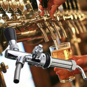 Adjustable Stainless Steel Beer Faucet Shank Combo Kit G5 8 Threads Keg Tap