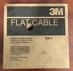 3m Vw 1 Flat Cable Ribbon Red black Partially Used Roll Approx 50 Feet