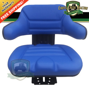 Blue Suspension Tractor Seat Wrap Back Fits Ford fits New Holland 600 601 800
