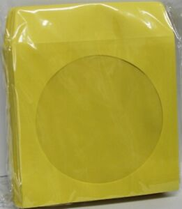 100 Yellow Color Cd Dvd Paper Sleeve Envelopes