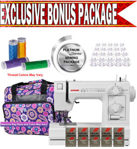 Janome Hd1000 Heavy duty Sewing Machine W Exclusive Platinum Series Sewing Pack