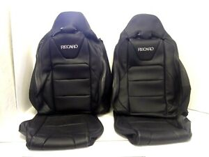 2015 2020 Ford Mustang Coupe Gt Recaro Black Leather Seat Covers Oem