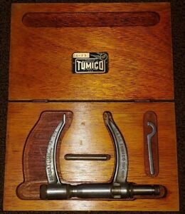 Tumico Tubular Micrometer Cs 23 In Original Wooden Box Feather Touch Complete