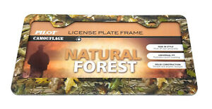 Pilot Camouflage Natural Forest License Plate Frame Camo Metal Truck Car