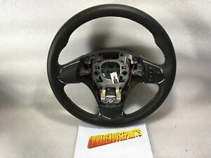 2005 2013 Corvette Black Leather Steering Wheel W manual Tran Snew Gm 22805646