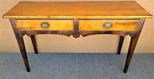 Baker Milling Road Italian Solid Maple 2 Drawer Console Sofa Table Made In Italy