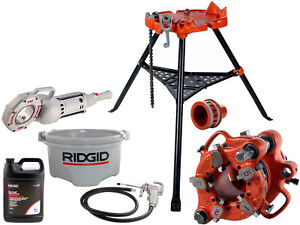 Ridgid 700 744 Adapter 418 Oiler With Reconditioned 460 141 Geared Threader