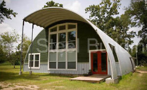 Durospan Steel 40 x30 x20 Metal Quonset Diy Home Building Kits Open Ends Direct