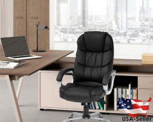Office Chair Computer High Back Adjustable Ergonomic Desk Chair Executive Pu Lea