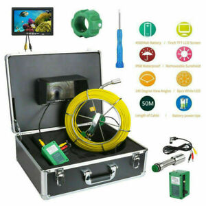 50m Sewer Waterproof Camera 7 Lcd Drain Pipe Pipeline Inspection System