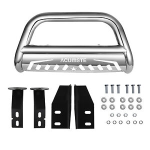 For 2007 2018 Toyota Tundra Front Bumper Skid Plate 3 Stainless Steel Bull Bar