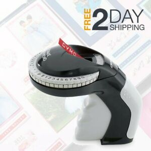 Embossing Label Maker With 3 Dymo Labeling Tapes Clicker Sticker Crafting Office