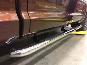 3 Steel For 07 18 Chevy Silverado Crew Cab Nerf Bar Running Boards Side Steps