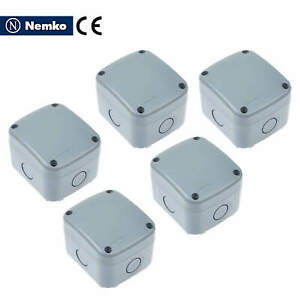 5 Pk Ip66 Waterproof Electrical Junction Box Case 86 74 62 Mm Weatherproof Abs
