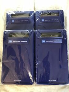 Lot Of 4 American Express Mobile Merchant Station Blue Clipboard Cases 15x9 New