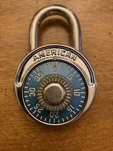 Vintage American Key Controled Combination Padlock Excellent Condition