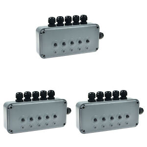 3 Pk Remote Controlled 5 Gang Switch Box Ip66 Weatherproof Outdoor Switching Box