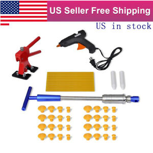 Car Body Dent Remover Panel Repair Tool Glue Hail Removal Glue Gun Slide Hammer