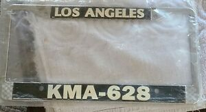 New Nos Los Angeles County Sheriff Kma 628 Lasd License Plate Frame Usa Made