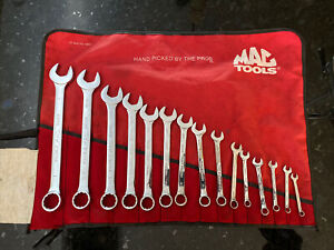 Mac 15pc Sae Long Knuckle Saver Wrench Set 1 4 1 12pt