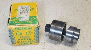 Greenlee No 730 1 1 8 Diameter Punch And Die Set Radio Chassis Punch