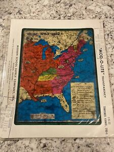 Vintage Overhead Projector Slide Transparency Formation Of Territories 1783 1812