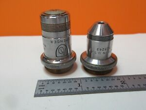 Pair Spencer Objective Lens 43x 10x Optics For Microscope As Pictured 16 c 35