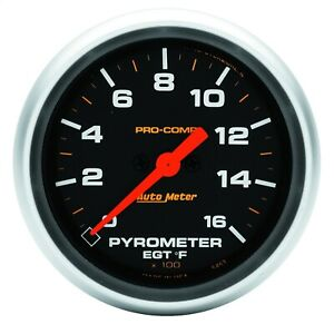 Autometer 5444 Pro comp Digital Pyrometer Gauge 0 1600 Degree F 2 5 8