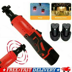 Hot Electric Cordless Right Ratchet 3 8 12v 65nm Angle Wrench Tool 2 Battery