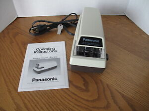Vintage Panasonic As 300 Commercial Electric Stapler W User Manual Working
