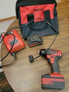 Snap on Ct8810 18v 3 8 Cordless Impact Wrench 2 Batteries Charger
