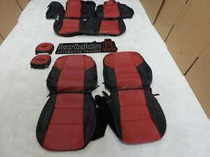 Leather Seat Covers Interior Fits Toyota Camry Se Xse 2015 2017 Red Black F34