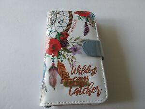 Nicole Lee Universal Adjustable Cell Phone Case Bohemian White Print New $21.00