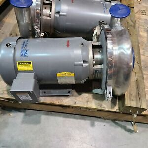 Waukesha 2085 Stainless Steel Centrifugal Pump 4 X 3 In out 5hp