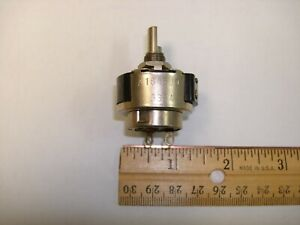 Vintage 15 Ohm Potentiometer With Switch Spst