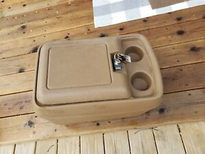 80 91 Ford Truck Factory Center Floor Storage Console F150 F250 F350 Bronco Tan