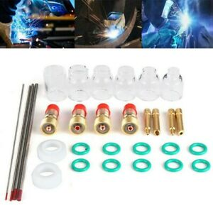 Tig Welding Torch Lens Soldering 30pcs Accessories Consumables Durable