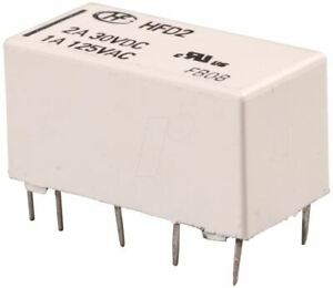 12v Miniature Latching Relay Dpdt Hfd2