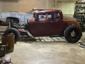 1932 Henry Ford Steel 5 Window Coupe Body Original Rolling Chassis