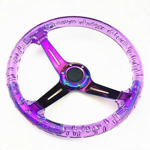 Modified Racing Steering Wheel Acrylic Crystal Luminous Personality 6 Colors