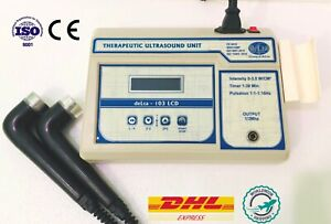 Original 1 3 Mhz Ultrasound Therapy With 2 Ultrasound Applicator Model Delta 103