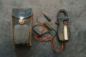 Vintage Amprobe Clamp Meter Volt Meter With Case For Parts not Working