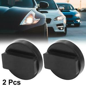 2pcs 0 87 X2 36 Jack Pad Support Rubber Frame Rail Protector Adapter For Bmw