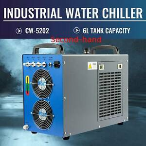 Secondhand Cw 5202 Industrial Water Chiller For 60 150w Laser Tubes Equipment