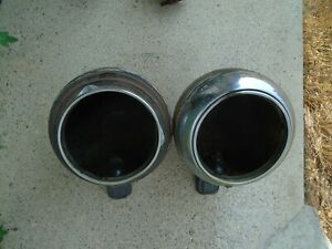 1940 s International Truck Headlight Bucket Pair W Stands Hot Rod Ford Chevy