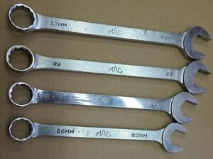Mac Tools 4pc Metric Large Combination Wrench Set 12 Pt M23 22 21 20mm Cw Usa