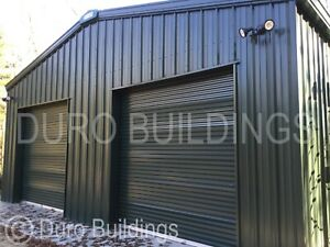 Durobeam Steel 50 x75 x14 Metal Clear Span Auto Salvage Garage Buildings Direct
