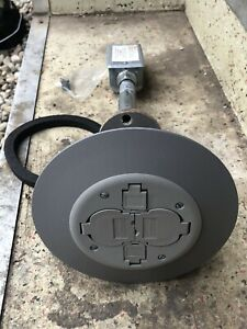 New Hubbell Pt2xgy Poke Thru Device Floor Receptacle Fire Rated Grey