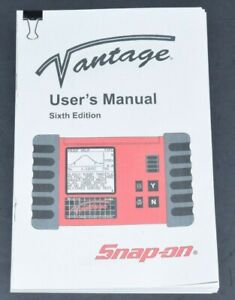 Snap on Vantage Diagnostic Graphing Meter Sixth Edition Instruction Manual Only