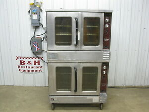 Southbend Natural Gas Double Stack Deck Convection Oven W Casters Slgs 22sc